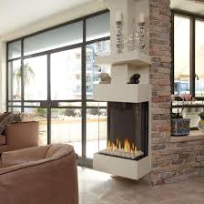 icon of 3 sided gas fireplace unique and elegant room divider