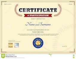 Certificate Of Participation Templates Certificate Of Participation Template In Baseball Sport
