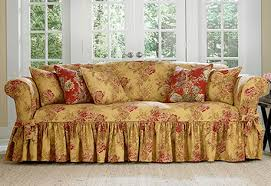 Exellent Fitted Sofa Covers Bouquet Waverly By Sure Fit On Perfect Design