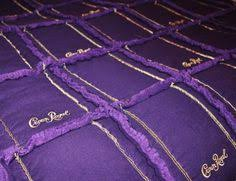 How to prep your Crown Royal bags for a quilt. | Quilts ... & Custom order Queen size Crown Royal Rag Quilt. Adamdwight.com