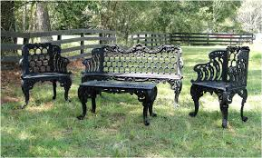 garden bench set two side chairs one