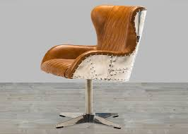Brown Armchair Leather Armchair With Aluminum Padded