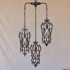 6173 3 mediterranean style wrought iron pendant chandelier