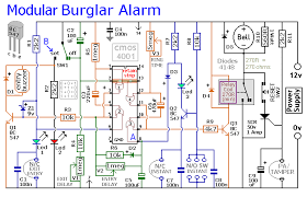 security alarm circuit diagram the wiring diagram mba circuit diagram