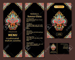 Indian Food Restaurant Menu Template Royalty Free Cliparts Vectors