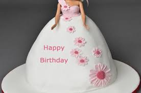 Happy Birthday Barbie Cake For Girls With Name 2happybirthday