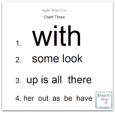 Words With Photo Sight Words Archives Jdaniel4s Mom