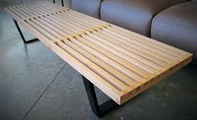 wood slat coffee table stupefy mid century bench flinders decorating ideas 19