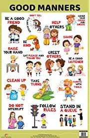 Good Manners Chart For Class 1 Buy Good Manners Chart 50x75cm Book Online At Low Prices