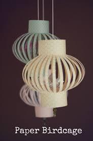 paper lighting fixtures. diy tutorial paper birdcage lighting fixtures