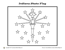 Indiana State Flag Coloring Page Jt Coloring