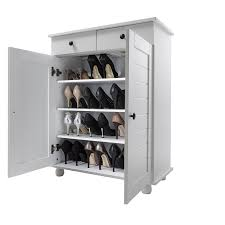 wooden shoe cabinet furniture. Shoe Storage Cabinet Deluxe With Drawer Heathfield In White: Amazon.co.uk: Kitchen \u0026 Home Wooden Furniture K