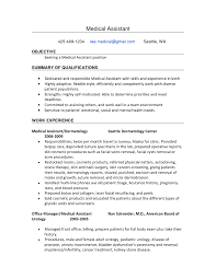 Cover Letter Template For Sample Resumes Medical Resume Objectives