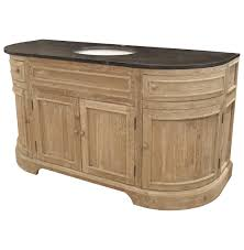single sink traditional bathroom vanities. Ginette French Country Reclaimed Pine Wash Curved Single Bath Vanity Sink | Kathy Kuo Home Traditional Bathroom Vanities
