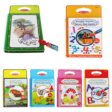 cool play baby magic water drawing book water painting board with one magic pen early educational