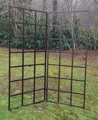 Small Picture Grid trellises can be configured to fold or stand on a patio