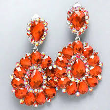 pink chandelier earring orange crystal chandelier rhinestone bridal pageant pink chandelier earring pink chandelier earring findings rhinestone