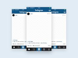 template phone instagram template mobile mockup free psd template psd