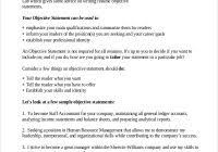 Sample Resume Objective Statements Www Sailafrica Org