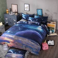 interior 3d galaxy bedding sets twin queen size universe outer space themed best magnificent 0