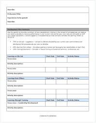Career Growth Plan Template – Custosathletics.co