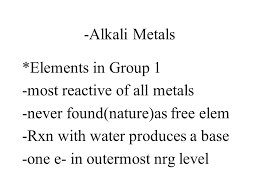 Chapter 6 Notes Book chapter 4-3. I. Properties of Metals and ...