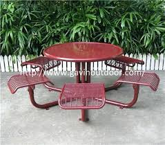 welded wire mesh outdoor cafe table chair set metal cafe style table welded wire mesh outdoor