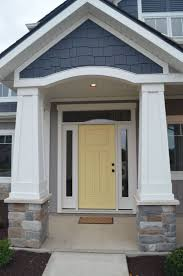 front door colors for blue gray house. yellow painted doors with gray exteriors add a ray of sunshine and pop color! front door colors for blue house b