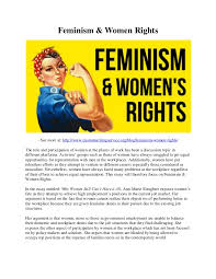 feminism women rights