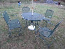 vintage wrought iron patio furniture image