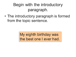 moving to the five paragraph narrative essay ppt video online  begin the introductory paragraph