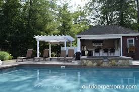 pool house bar. Pergola Next To Poolhouse Bar Is Great Addition This Backyard Entertainment Area. Pool House