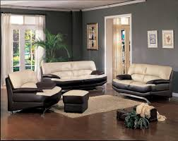 ... Large Size of Choosing Paint Color Living Room Ideas With Cream And  Black Leather Sofa On ...