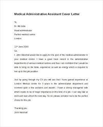 Free Cover Letter Samples For Office Assistant Cover Letter Medical