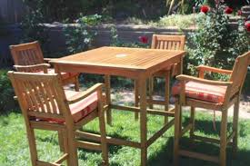 Endearing Tall Patio Furniture With Bar Height Teak Patio Set Outdoor Pub Style Patio Furniture