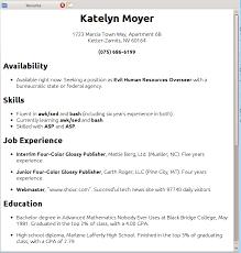 get a resume