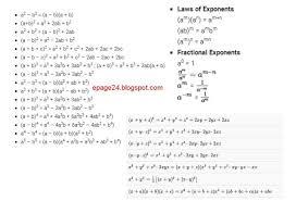 Math Chart 8th Grade Formula 13 Algebra Math Formulas Algebra Math Formulas In Bengali