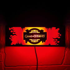 of thrones wall mounted night lamp