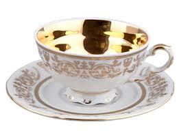 Купить <b>Чашка низкая</b> с блюдцем 0.2 л, позолота, фарфор ...