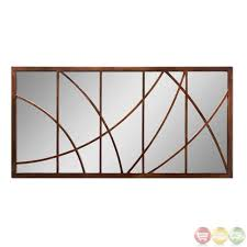 loudon modern bronze mirror with curved overlay details 14530