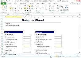Balance Sheet Templates Gorgeous Business Plan Template Excel Free Luxury Financial On Balance Sheet