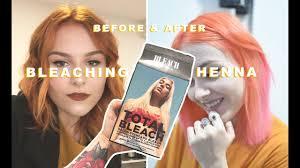 bleaching henna hair removing henna
