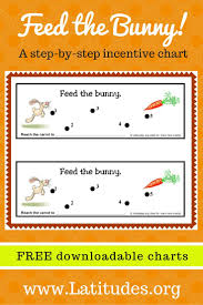 Free Step By Step Behavior Chart Feed The Bunny