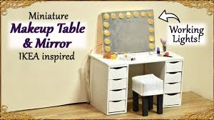 Makeup Table Miniature Makeup Table Mirror With Working Lights Ikea