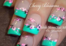 Robin Moses Nail Art: Cherry Blossom Nail Art 2016 Full Length ...