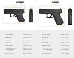 Glock Size Chart Unmistakable Glock Comparison Chart Size Comparison Of