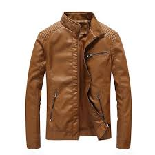 2018 new brand autumn men pu leather jackets men classic leather jacket and coat winter male