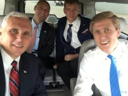 """Nick Ayers on Twitter: """"So when @mike_pence selfies, he insists on taking  it because """"no one selfies like I selfie."""" True statement. Gotta love it.…  https://t.co/oMpWMriyhA"""""""