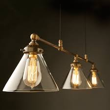 vintage edison billiards table light with a range of steel and glass shade options description