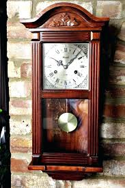 wall clock with chime wall clocks with pendulum and chimes vintage day wall clock with chimes
